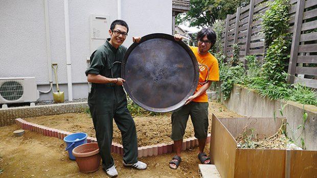 大きなフライパンを準備しました!