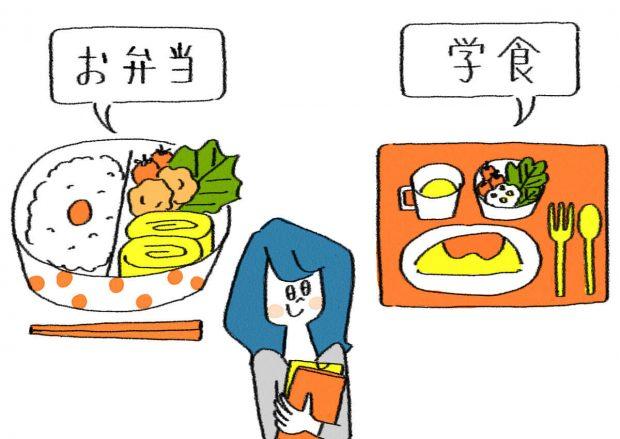 Q ランチするなら手弁当と学食、どっち?