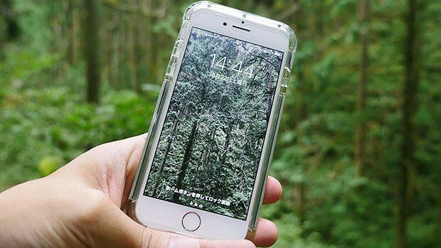 壁紙を森にすれば、スマホも癒されるし、人間もスマホを触る度に癒される!