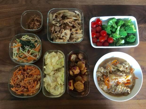 「半分調理」 写真:ブログ「エコナセイカツ」より引用 ※手間ひまのかからないおかずは、味付けまで終わらせることもあります。