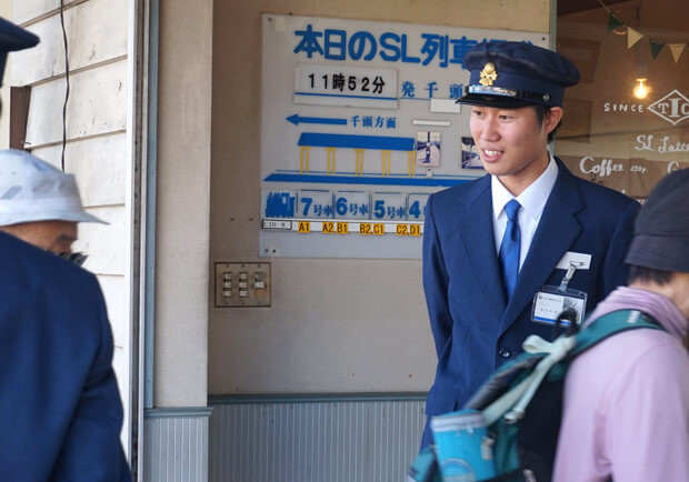 大井川鐵道SL始発駅の1日駅長バイト_38