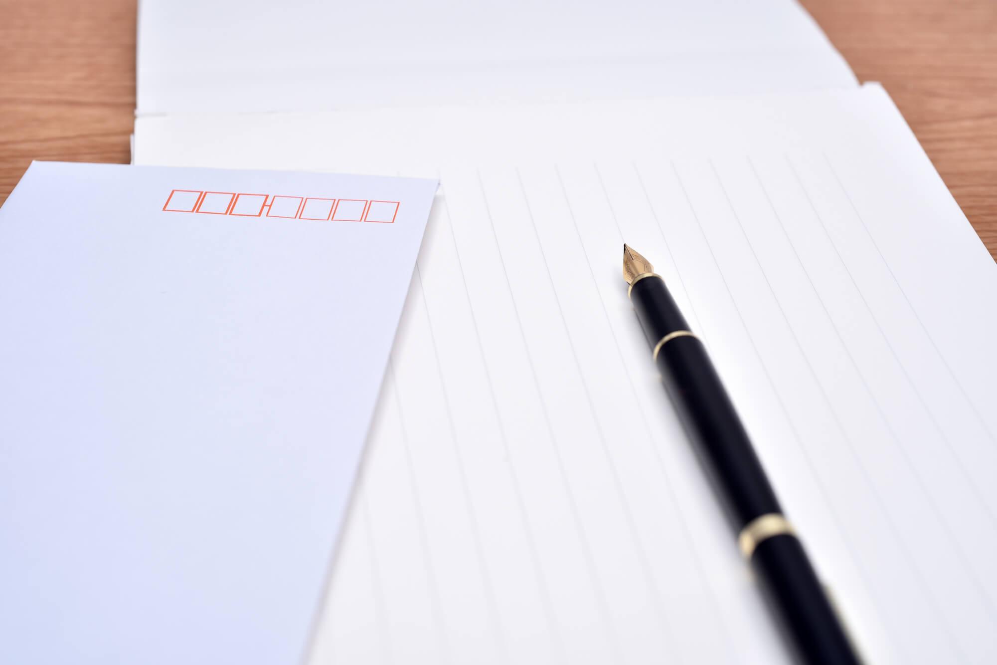 動画ありバイトの履歴書を郵送する際に同封する送り状書き方例文