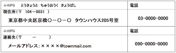 履歴書 メール メールアドレス